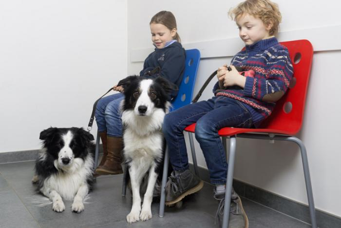 Kinderen in wachtzaal